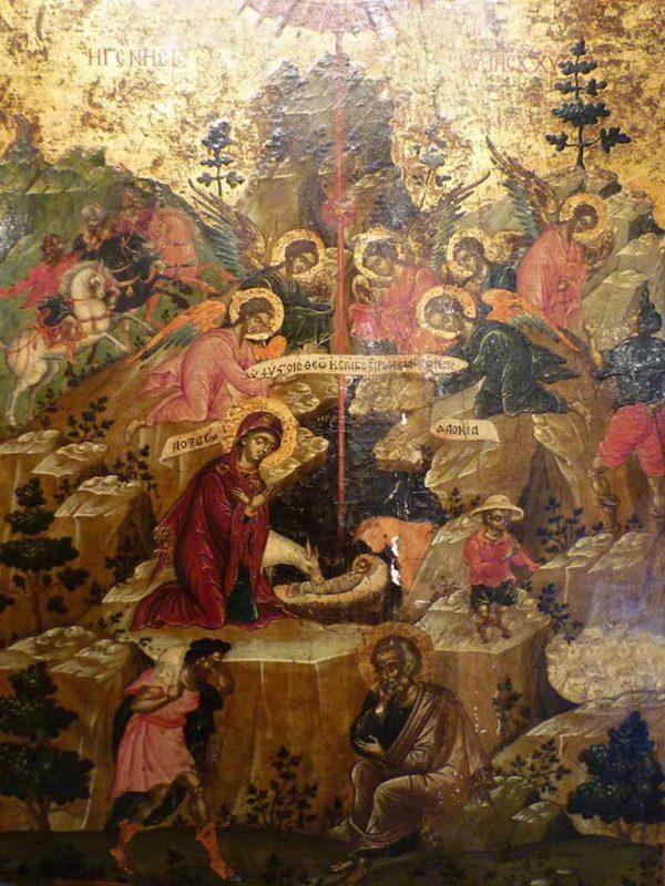 Icone russe. Icona russa con Natività - L'arte delle Icone Russe
