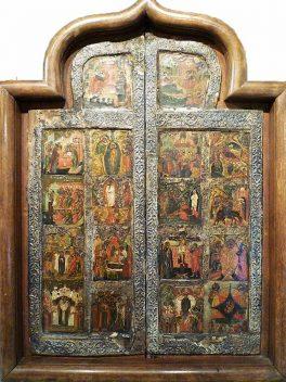 Porta di Iconostasi con Scene Cristologiche - Icone Russe