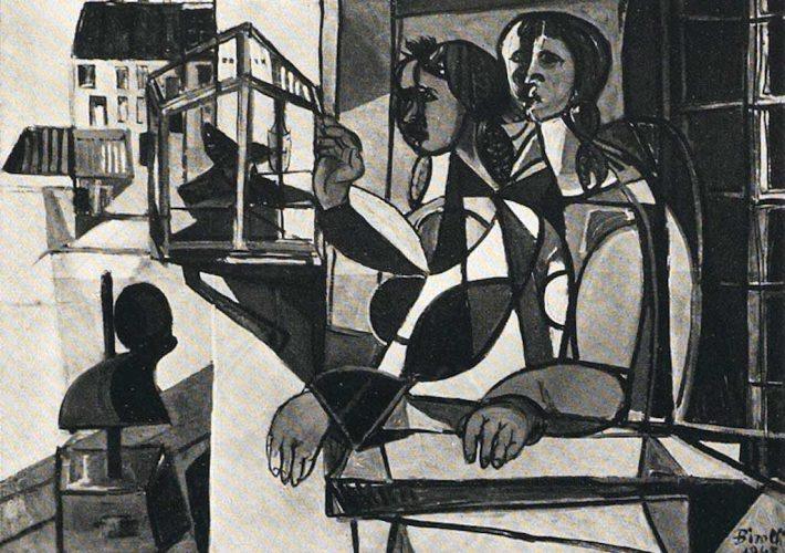 Renato Birolli. Ragazze alla Finestra, 1948. Tecnica: Olio su tela