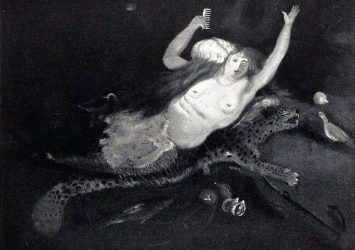 Scipione. Il Risveglio della Bionda Sirena, 1929. Tecnica: Olio su cartone, 80,5 x 102 cm
