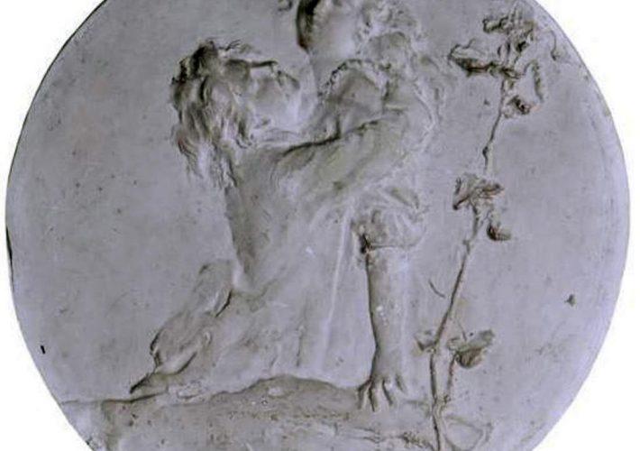 Domenico Baccarini. Edera. Tecnica: Bassorilievo in gesso
