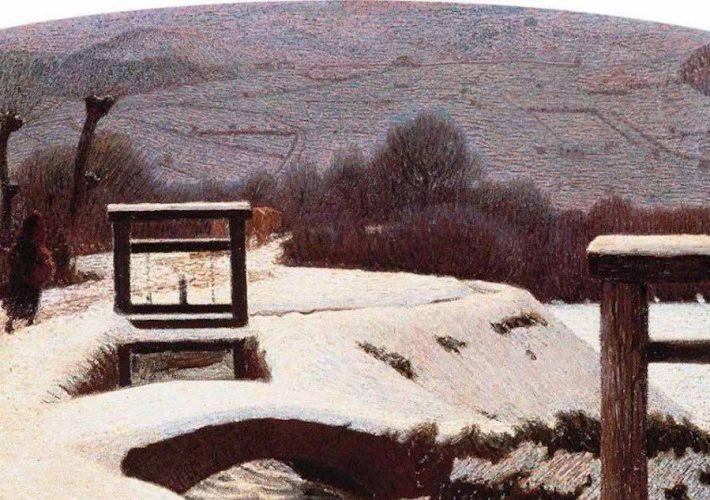 Divisionismo. Giuseppe Pellizza da Volpedo. La Neve. Crepuscolo invernale, 1906