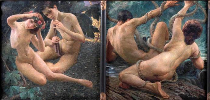 Giovanni Battista Crema. L'Eterna Vicenda. Trittico (dettaglio)