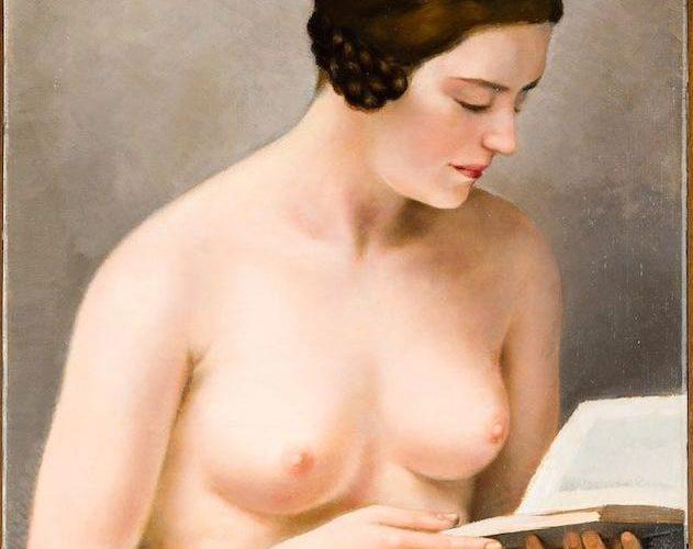 L'arte del '900. Francesco Trombadori. Fanciulla nuda che legge (dettaglio), 1929.