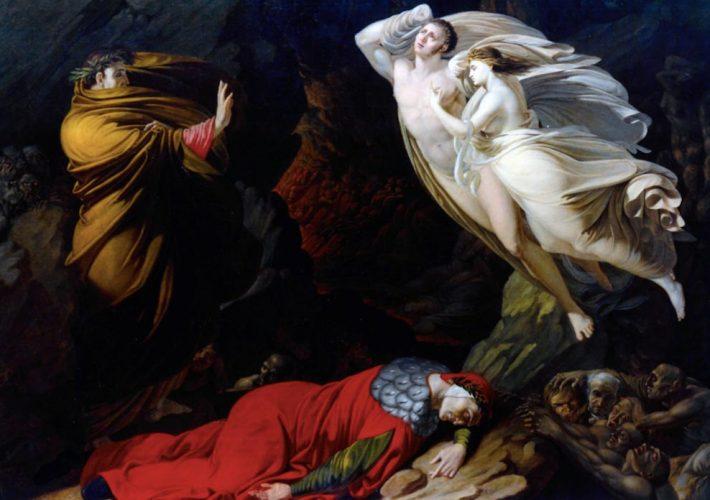 Dantedì. Nicola Monti. Francesca da Rimini nell'Inferno, 1810. Tecnica: Olio su tela. Gallerie degli Uffizi