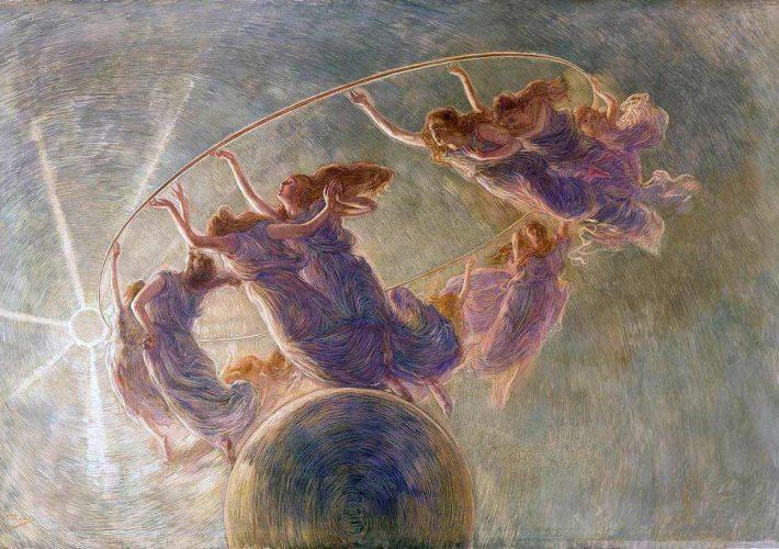 Arte e Mecenatismo. Gaetano Previati. La Danza delle Ore. Tecnica: Olio e tempera