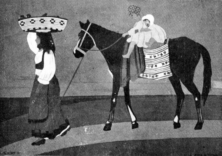 Edina Altara. Sulla Strada di Tonara, 1917. Tecnica: Collage di Carte Colorate