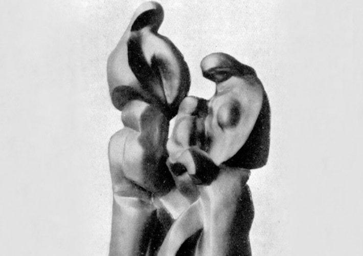 Mino Rosso. Famiglia Contadina (dettaglio). Scultura in bronzo