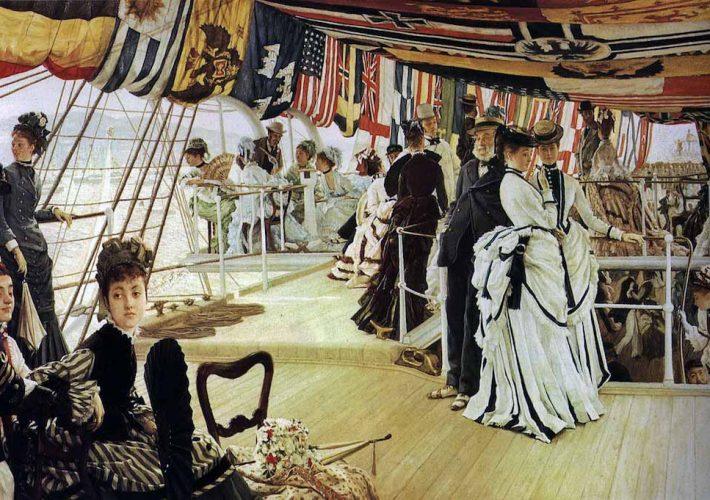James Tissot. James Tissot. Ballo a Bordo, 1874 ca, Tecnica: Olio su tela