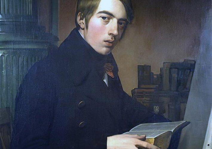 Casa di Goethe. Friedrich Overbeck. Autoritratto con la Bibbia (dettaglio). Tecnica: Olio su tela